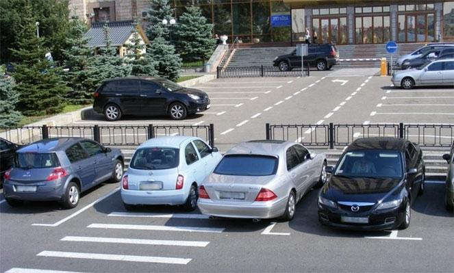 Парковка в запрещенном месте