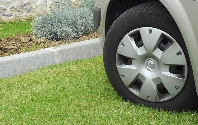 Парковка на зелёной зоне