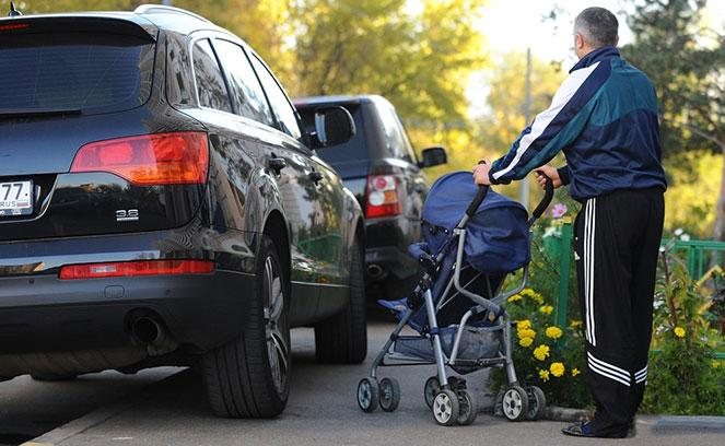 Штраф за стоянку машины на тротуаре в  2019  году