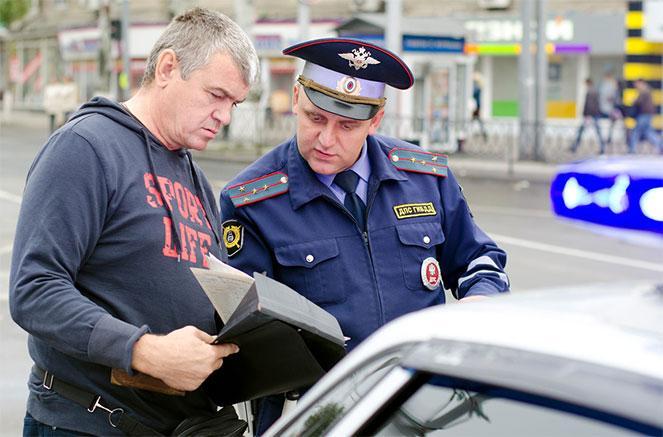 Остановка автомобиля сотрудником ГИБДД