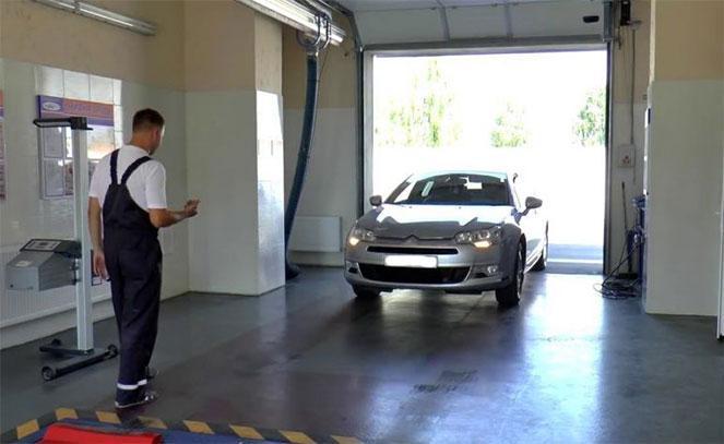 Пункт осмотра автомобилей