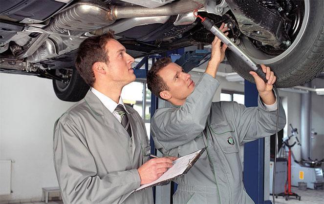 Проверка автомобиля на СТО