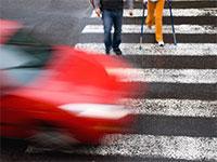 Автомобиль не пропустил пешеходов