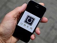 Приложение Uber на телефоне