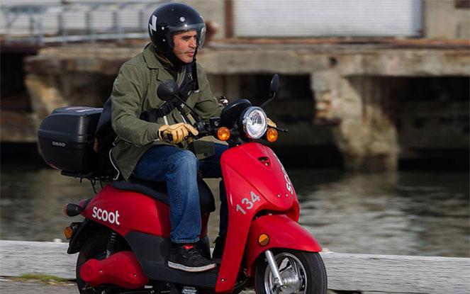 Езда на скутере