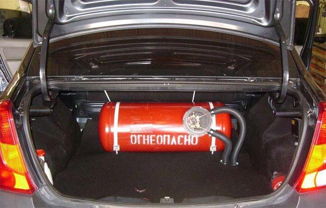 Газовой баллон в машине