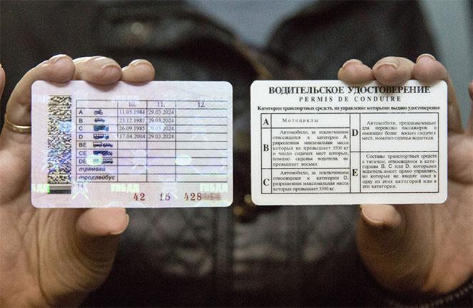 Какие категории водительских прав действуют в  2018  году