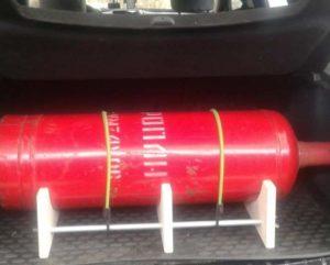 Перевозка бытового газового баллона в багажнике легкового автомобиля