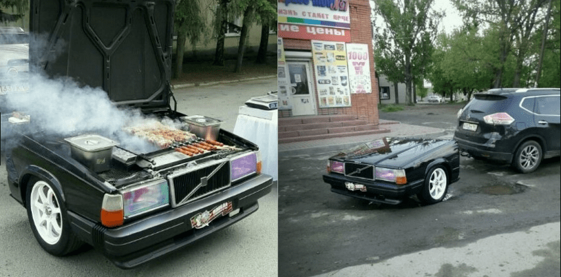 Житель города Шахты продаёт мангал изготовленный из автомобиля Volvo 740