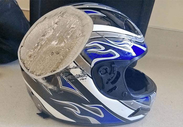 Лучше даже не представлять что было бы без шлема