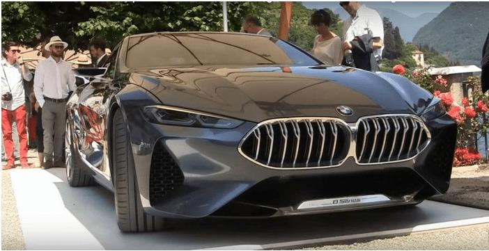 В Италии впервые показали роскошное купе BMW 8  2018 : скрытое видео