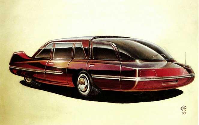 Автомобиль с заднемоторной вагонной компоновкой