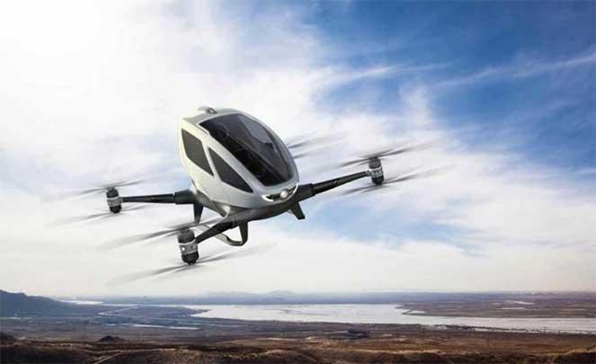 В Дубае запускают летающий такси-беспилотник