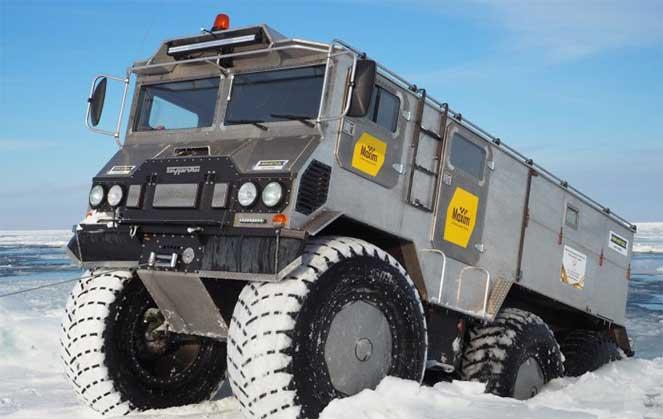 Вездеход «Бурлак» – уникальный транспорт для покорения Северного полюса