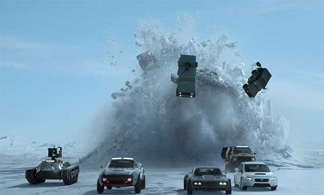 142 авто разгромили во время съемок фильма «Форсаж»