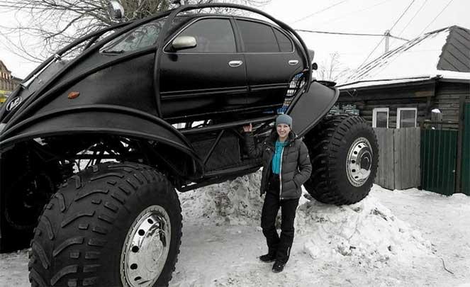 Алтайский умелец сделал футуристический автомобиль из Nissan Maxima