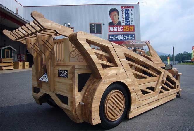 Внешний вид Maniwa Wooden Supercar