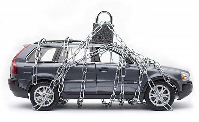 Машина под защитой