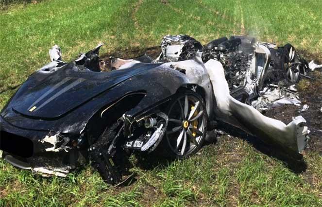Англичанин разнес вдребезги новенький Ferrari сразу после покупки
