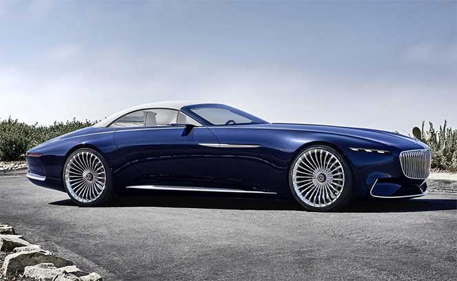 Удивительный Mercedes-Benz Vision Maybach 6 Cabriolet представили в США