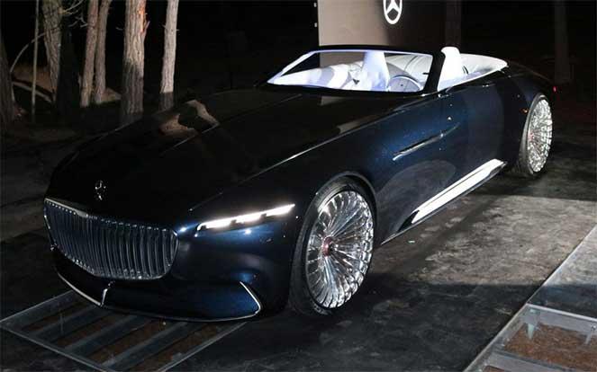 В США представили удивительный Mercedes-Benz Vision Maybach 6 Cabriolet