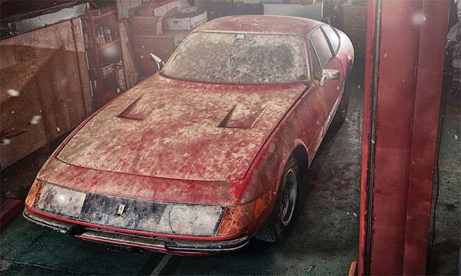 Уникальный Ferrari, простоявший 40 лет в гараже, будет выставлен на продажу