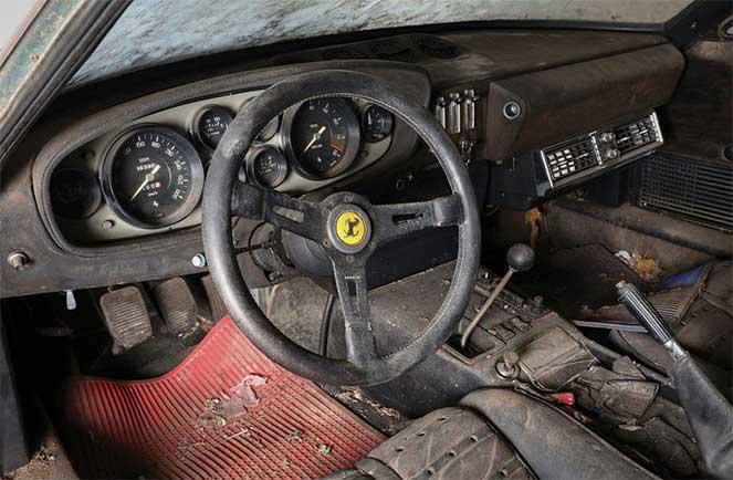 Редкий Ferrari, простоявший без дела 40 лет, будет выставлен на продажу