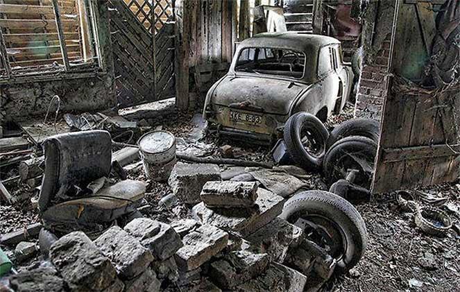 В Берлине обнаружили автомобильную мастерскую со старыми советскими авто