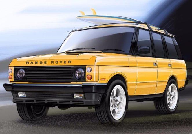 Рисунок старого Range Rover