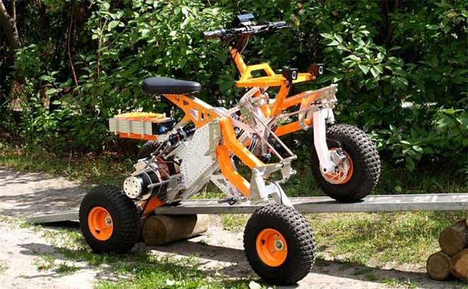 Новая модель электрического квадроцикла для бездорожья