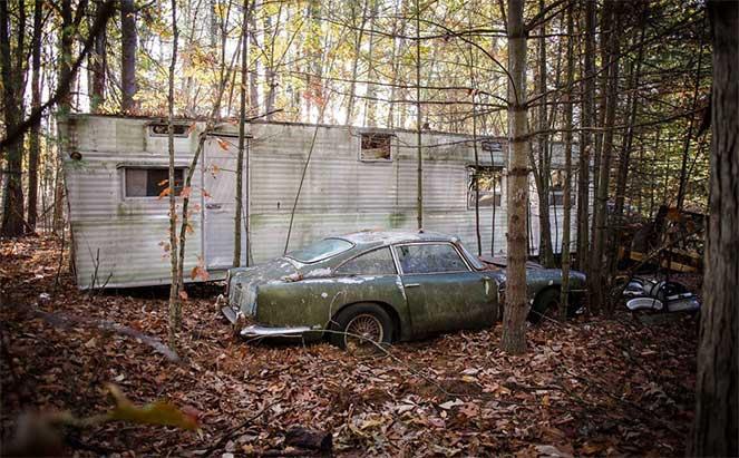 Выставлен на продажу Aston Martin, который провел в лесу почти 50 лет