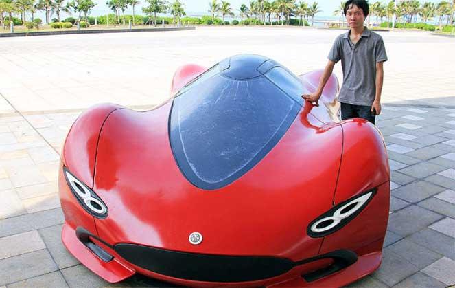 Изобретательный из Китая собрал собственный суперкар за $4800
