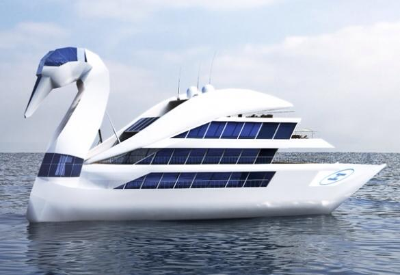 Российский олигарх спроектировал яхту-лебедя