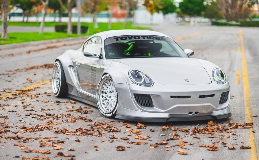 Тюнингованый Porsche Cayman