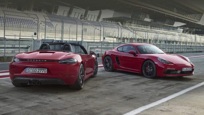 Porsche выпустил самые мощные версии Boxster иCayman