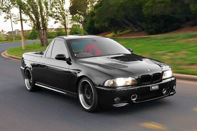 На базе BMW M5 сделали кастомный пикап