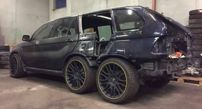 Тюнинг-мастеры представили шестиколесный BMW X5