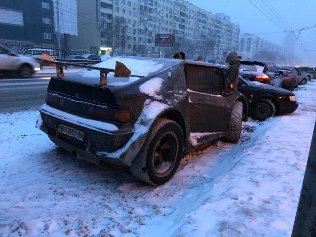 В Киеве заметили Хонду, готовую к Апокалипсису