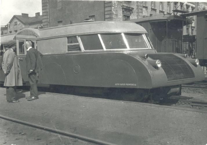 Фотография старого скоростного поезда