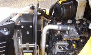 Двигатель экскаватора-погрузчика
