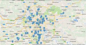 Карта парковок в Москве