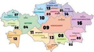 регионы Казахстана