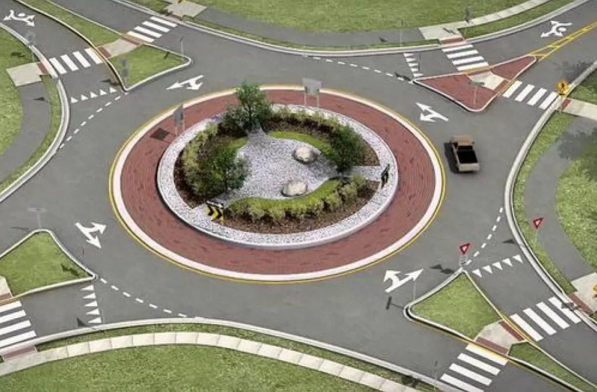Круговое движение на перекрестке